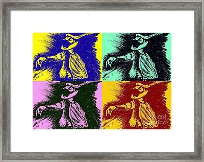 Mj Pop Art Framed Print