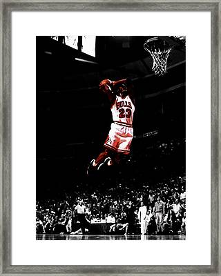 Mj Rises Framed Print by Brian Reaves