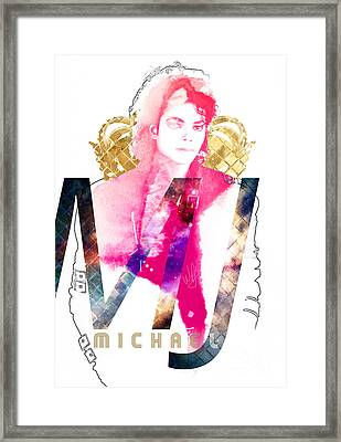 MJ Framed Print by Wagner Povoa