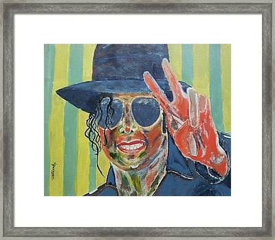 M.j's Portrait Framed Print by Vishal Dharmani