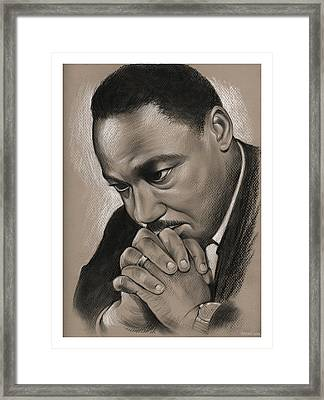 MLK Framed Print by Greg Joens