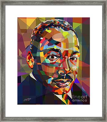 MLK Framed Print by James  Mingo