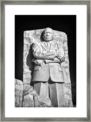 Mlk Memorial In Black And White Framed Print by Val Black Russian Tourchin