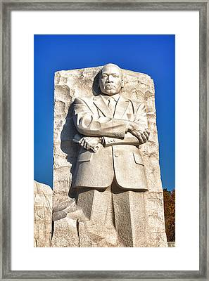 Mlk Memorial In Color Framed Print by Val Black Russian Tourchin