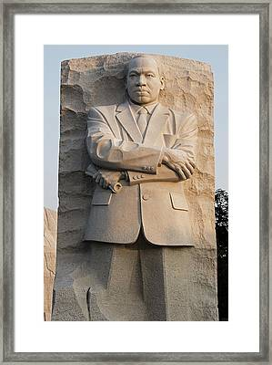 Mlk Memorial In Washington Dc Framed Print by Brendan Reals