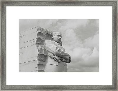 Mlk Statue Framed Print by Brandon Bourdages