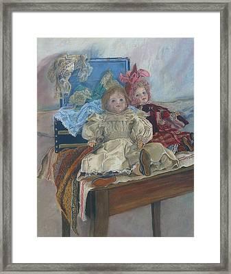 Mlle. Pinchon Framed Print by Miriam A Kilmer