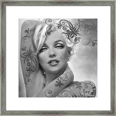 Mm 127 Deco Bw Framed Print