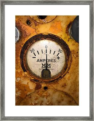 Mm Amperes Gauge Framed Print