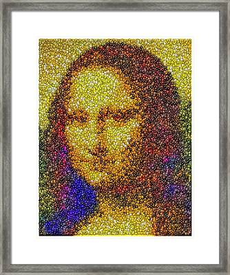 Framed Print featuring the mixed media Mm Candies Mona Lisa by Paul Van Scott