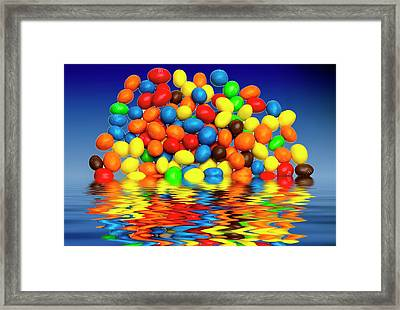 Framed Print featuring the photograph Mm Chocolate Sweets by David French
