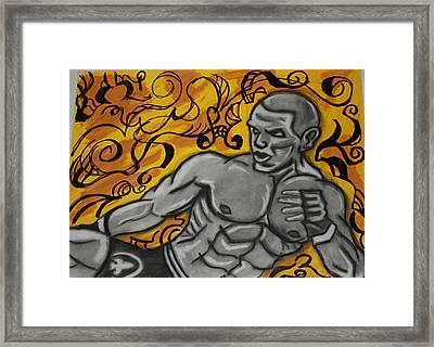 Mma Fighter Framed Print by Jasmine Harris