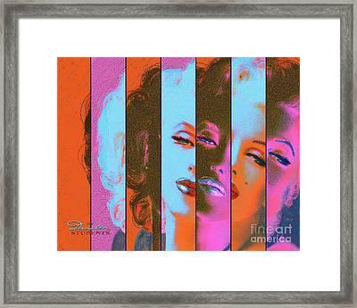 Mmarilyn 130 Sis Red Framed Print