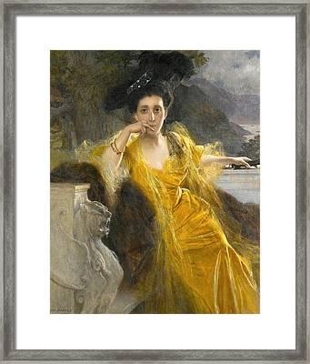 Mme Marie-louise Fould Nee Heine Framed Print