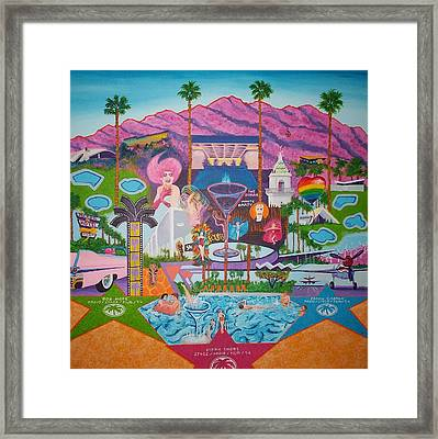 mmmm... Palm Springs Framed Print