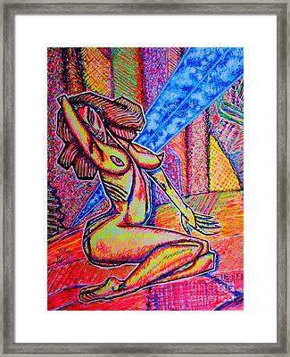 M.m.nue/sketch/ Framed Print