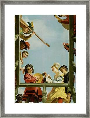 Mmuzykanty On The Balcony Framed Print