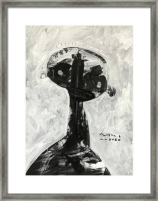 Mmxvii Demons No 1  Framed Print by Mark M Mellon