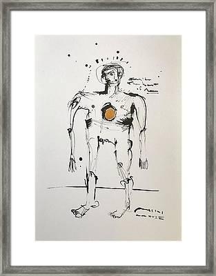 Mmxvii Inside The Heart Of Man  Framed Print
