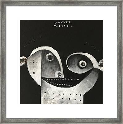 Mmxvii Masks For Despair No 1  Framed Print by Mark M Mellon
