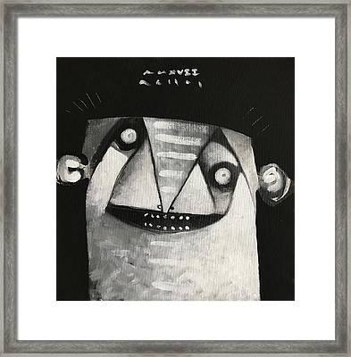 Mmxvii Masks For Despair No 3  Framed Print