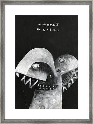 Mmxvii Masks For Despair No 5 Framed Print by Mark M Mellon