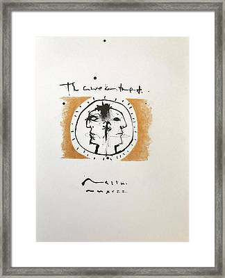 Mmxvii The Future Knows The Past  Framed Print