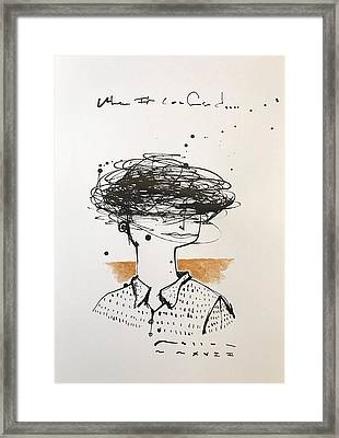 Mmxvii When I'm Confused  Framed Print