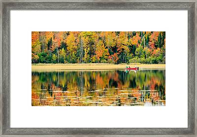 Mn Fall Fishing Framed Print