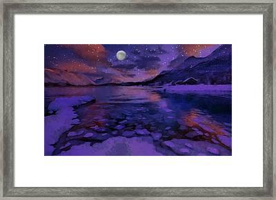 Mnon Over The Frozen Lands Framed Print