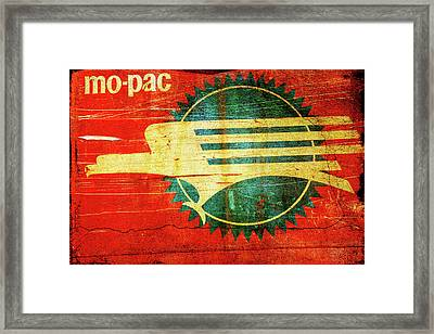 Mo-pac Caboose  Framed Print by Toni Hopper