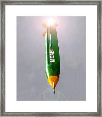 Moab Bomb Framed Print
