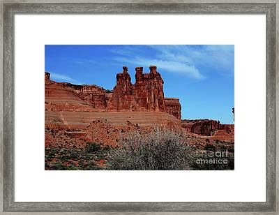 Framed Print featuring the photograph Moab by Edward R Wisell