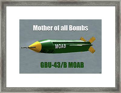 Framed Print featuring the painting Moab Gbu-43/b by David Lee Thompson