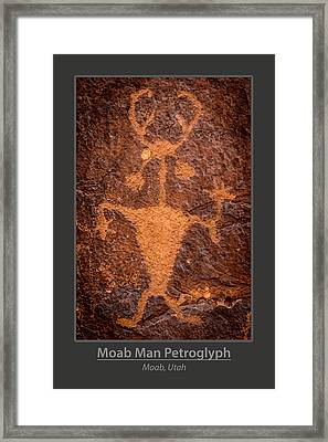 Moab Man Poster Framed Print by Gary Whitton