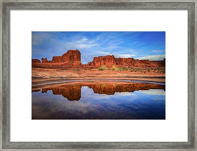 Moab Reflections Framed Print by Edgars Erglis