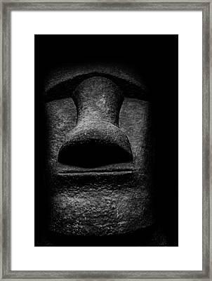 Moai - Easter Island Head Framed Print by Martin Newman