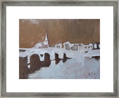 Moasbrogk In Brown Tints Framed Print