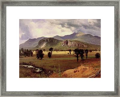 Moat Mountain Intervale New Hampshire Framed Print by Albert Bierstadt