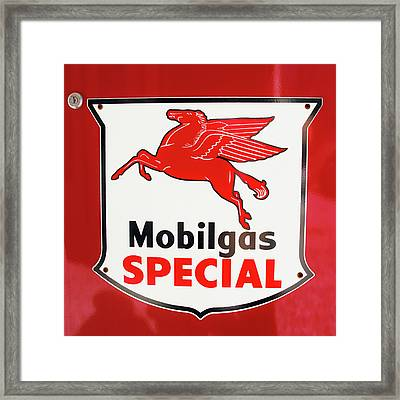 Mobilgas Vintage 82716 Framed Print