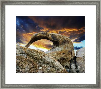 Framed Print featuring the photograph Mobious Arch California 7 by Bob Christopher
