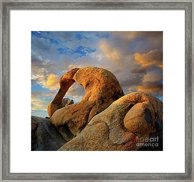 Mobious Arch California Framed Print