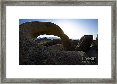 Mobius Arch Alabama Hills California 2 Framed Print by Bob Christopher