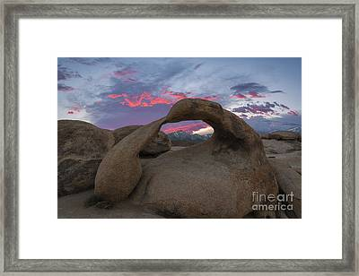 Mobius Arch Sunset  Framed Print