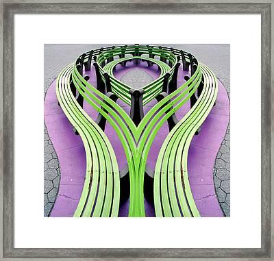 Mobius Bench Framed Print