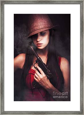 Mobster Toting A Gun Framed Print