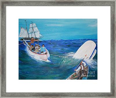 Moby Dick - The White Whale Framed Print by Bill Hubbard
