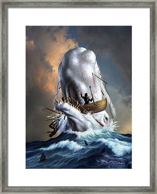 Moby Dick 1 Framed Print by Jerry LoFaro