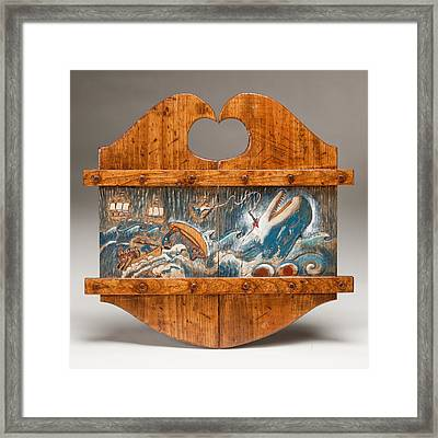 Moby Dick Framed Print by James Neill