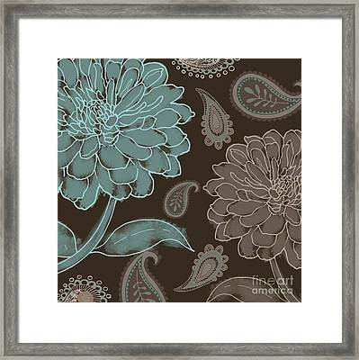 Mocha And Paisley Framed Print